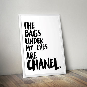 Chanel Printable Art, Wall Art, 8x10, Teen Gift Idea, Inspirational Art, Home Decor, Typography Poster, Quote Poster