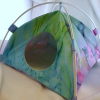 Watercolor Large Tent Sleep Sack Bed for Hedgehogs Rats Guinea Pigs Ferrets