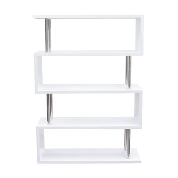X2 Large Shelving Unit in White Lacquer with Metal Supports