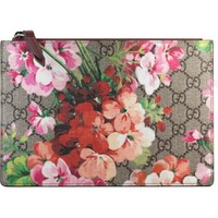 Gucci Small GG Blooms Canvas & Leather Pouch | Nordstrom