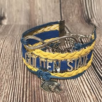 Ladies Golden State Warriors Bracelet NBA Basketball