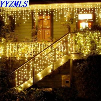 Hot 4.5m Droop 0.3-0.5m New year Led Christmas Lights Decoration 220V EU Plug Waterproof For Home Energy saving