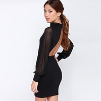 Slim Sexy Backpack Hip Dress