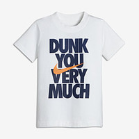 """The Nike """"Dunk You Very Much"""" Little Kids' (Boys') T-Shirt."""