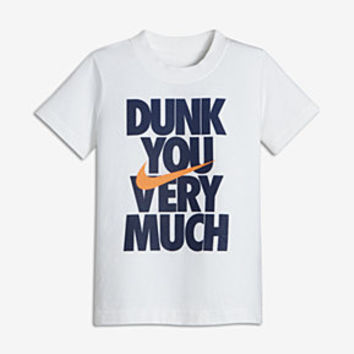 "The Nike ""Dunk You Very Much"" Little Kids' (Boys') T-Shirt."