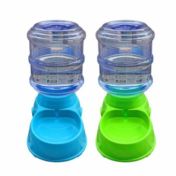New Automatic Pet Feeder Dogs Cats Food Water Bowl Non-toxic Food Water Dispenser Container Drinking Fountains Pet Supplies