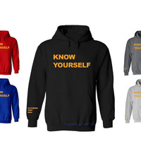 Drake Ovo Ovoxo Know Yourself October's Very Own Swag Dope Sweatshirt Hoodie Hooded Hoody