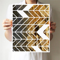 Geometric print 11x14  Chevron  Art print   Wall by villavera