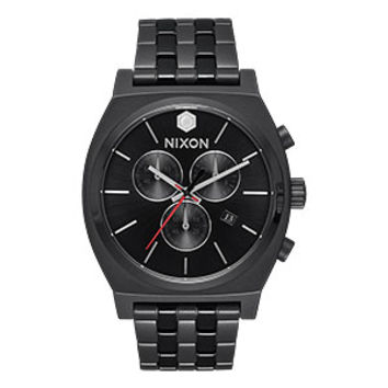 Nixon Time Teller Chrono SW Watch - Kylo Black