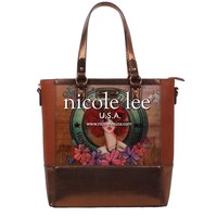 SUNNY BROWN HOLOGRAPHIC PRINT TOTE BAG - NEW ARRIVALS