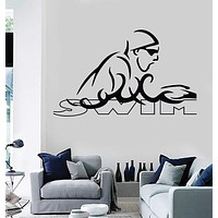 Wall Stickers Vinyl Decal Swim Swimmer Swimming Water Sport  Unique Gift (z1958)