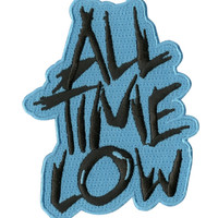 All Time Low Turquoise Logo Iron-On Patch