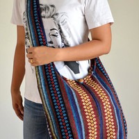 Woven Bag Hippie Crossbody Messenger Bag Boho Hobo Bag Tribal Bag Cotton Handbags Purse NW2