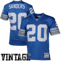 Barry Sanders Detroit Lions Mitchell & Ness Retired Player Vintage Replica Jersey – Honolulu Blue