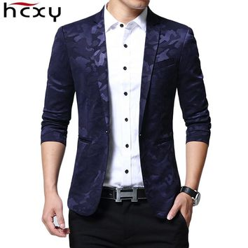Brand Blazer Men fashion Casual Slim Blazers Spring New Arrival Fashion Party Single Breasted Men Suit Jacket Plus Size