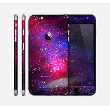 The Vivid Pink Galaxy Lights Skin for the Apple iPhone 6 Plus