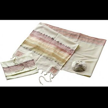 Desert Sunset Wool Tallit for woman, Bat Mitzvah Tallit