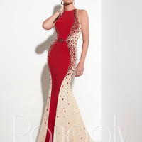 Panoply 14813 Side Beaded Panels Formal Prom Dress
