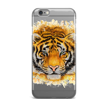 Powerful Tiger Clear Phone Cases