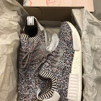 NEW DS Adidas NMD R1 Color Static Rare Sz 9.5 Primeknit Ultra
