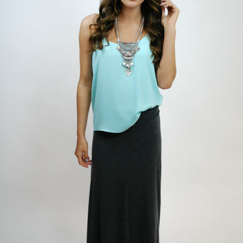 Luxe Life Maxi Skirt - Charcoal