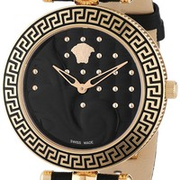 "Versace Women's VK7030013 ""Vanitas"" Rose Gold Ion-Plated Watch with Interchangeable Leather Band"