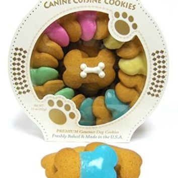 Claudia's Canine Cuisine Carousel of Canine Party Bones Vanilla Dog Cookies, 11-Ounce