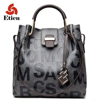 Women Handbag Bag Large Capacity Tote pu leather Luxury Designer High Capacity letter pattern Hot sell Shoulder Messenger Bag