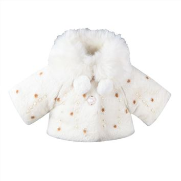 0-3T Infant Kids Girls Clothes Hot sell Long Sleeve Fur Warm Coat Toddler Baby Pearl Fleece Jacket Outwear Girls Clothing