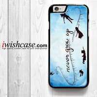 Peter Pan Never Grow Up On Star Sky Galaxy Nebula for iPhone 4 4S 5 5S 5C 6 6 Plus , iPod Touch 4 5  , Samsung Galaxy S3 S4 S5 S6 S6 Edge Note 3 Note 4 , and HTC One X M7 M8 Case