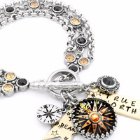 Nautical Charm Bracelet, True North