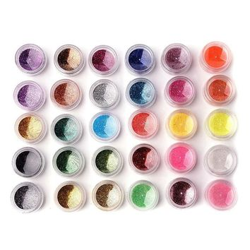 15 Colors Cosmetic Glitter Powder Eye Glitter Maquiagem Fine Dust Glitter Pot Nail Art Face Body Eye Shadow Craft Iridescent