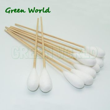 Green World 50pcs/lot 6 Inch Dia12mm  Gun Cleaning Cotton Swabs,Large Tapered Swabs, RamRodz Barrel and Breech Cleaners