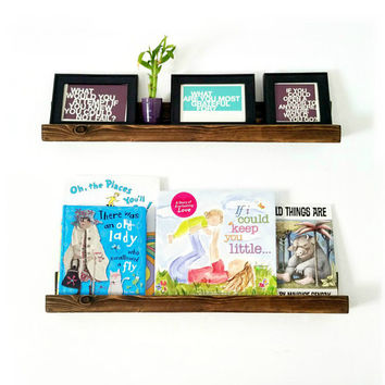 Rustic Floating Picture Ledge Shelf - Floating Shelves - Rustic picture ledge - Gallery wall shelf