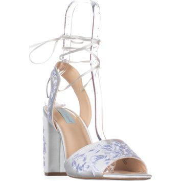 Blue by Betsey Johnson Raine Dress Sandals, Ivory, 11 US