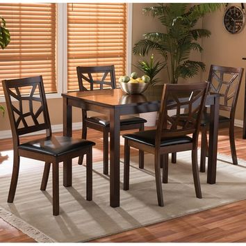 Baxton Studio Lucy 5-piece Modern Dining Set | Overstock.com Shopping - The Best Deals on Dining Sets