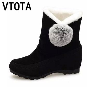 VTOTA Snow Boots Women Winter Shoes Flat Warm Ankle Boots Tenis Feminino Casual Shoes Slip On Shoes For Women Botas Mujer E30