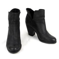 Vince Camuto Ankle Boots 7 M  Black Leather High Heel Helyn  EU 37.5