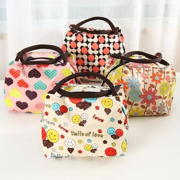 New Fashion Portable Thermal Insulated Lunch Bag Lunch Boxs Storage Bag Carry Picnic Food Tote For Lady