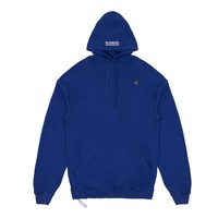 Vetements Women's Euro Oversized Hoodie With Print (Blue)