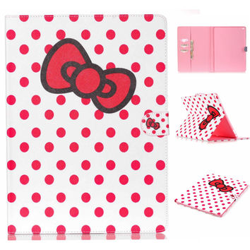 Cute Bowknot Leather creative case Wallet for iPad Pro 12.9