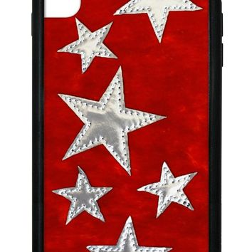 Red Velvet Silver Stars iPhone Xs Max Case