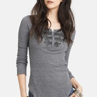 Free People 'Battalion' Embellished Thermal Top | Nordstrom