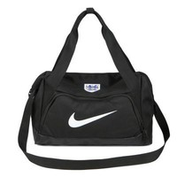 """Nike"" white hook Travel Duffel Bag Weekender Extra Large Tote Satchel Handbag H-A-MPSJBSC"