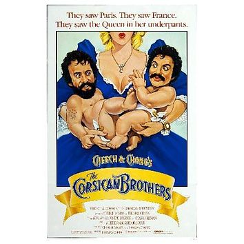 Cheech And Chongs Corsican Brothers Movie poster Metal Sign Wall Art 8in x 12in