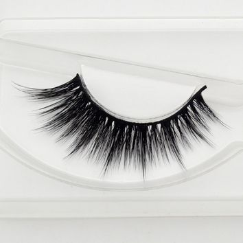 Beauty mink eyelashes 3D MINK False Eyelashes Messy Cross Dramatic Fake Eye Lashes Professional Makeup Lashes