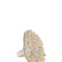 Iridescent Natural Stone Ring