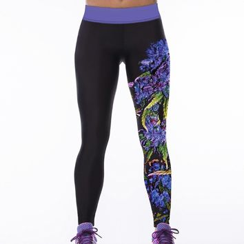 Echoine Leggings Women Yoga Pants Sport Fitness Tights Leggings Running Sportswear Quick Drying Out Wear Digital Print Leggings