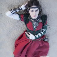 """Steampunk Necklace """"The Alchemists daughter""""; real leather necklace; pagan jewelry"""