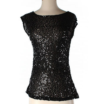 The Limited Sparkle Short Sleeve Top